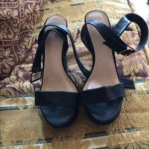 Mix No 6 Black Wedges